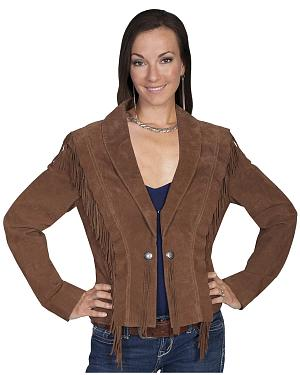 Scully Bolero Fringe Suede Jacket