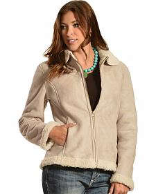 Red Ranch Women's Short Faux Suede Sherpa Jacket