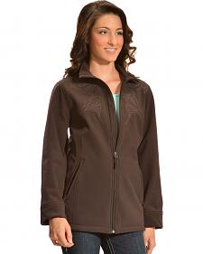 Red Ranch Women's Brown Embroidered Performance Jacket