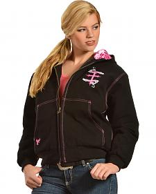 Cowgirl Hardware Women's Winged Cross Hooded Jacket