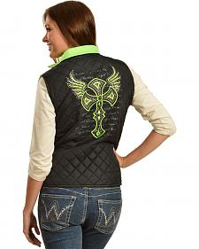 Cowgirl Hardware Winged Cross Quilted Vest