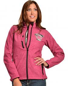 Cowgirl Hardware Pink Barbwire Heart Poly Shell Jacket