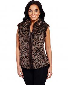 Cripple Creek Women's Leopard Sweater Vest