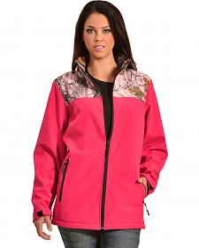 Red Ranch Pink Bonded Jacket with Camo