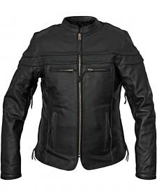 Interstate Leather Women's Moxie Leather Scooter Jacket