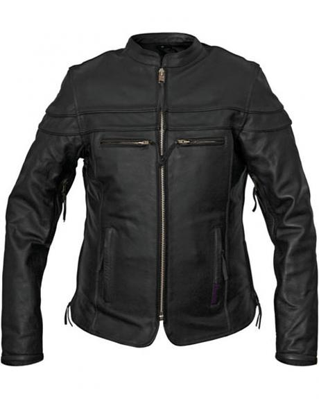 Interstate Leather Women's Moxie Leather Scooter Jacket - Plus Size
