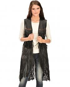Kobler Leather Women's Cigala Leather Fringe Vest