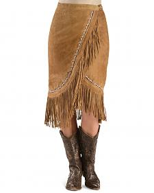 Kobler Leather Women's Yuma Fringe Suede Skirt