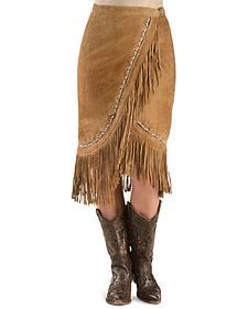 Kobler Leather Women's Yuma Fringe Suede Skirt
