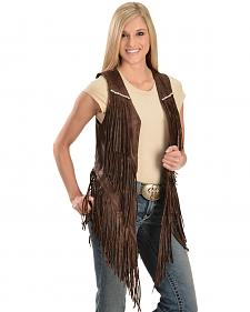 Kobler Leather Women's Yucaipa Fringe & Rhinestone Leather Vest