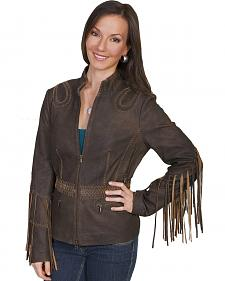 Scully Ranch Long Fringe Leather Jacket
