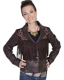 Scully Leatherwear Rugged Lamb Fringe Jacket