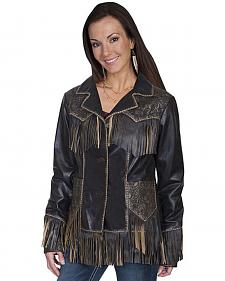 Scully Women's Fringe Tooled Leather Jacket