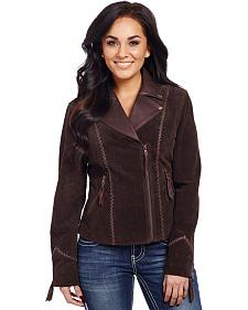 Cripple Creek Women's Hand-Laced Asymmetric Front Jacket