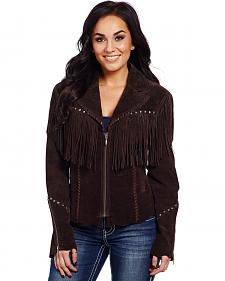 Cripple Creek Women's Embroidered Fringe Jacket