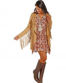 Powder River Outfitters Women's Fringe Microsuede Jacket