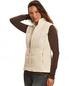 Jane Ashley Women's Stone White Quilted Princess Vest