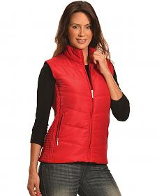 Jane Ashley Women's Red Quilted Princess Vest