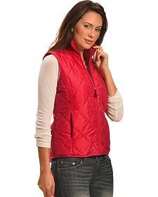 Jane Ashley Women's Coral Diamond Quilted Princess Vest