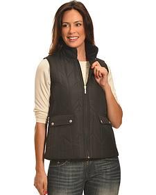 Jane Ashley Women's Black Zig Zag Snap Vest