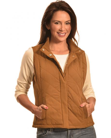 Jane Ashley Women's Faux Suede Quilted Vest