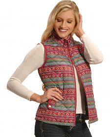 Jane Ashley Women's Quilted Southwestern Print Vest