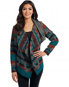 Cripple Creek Women's Southwest Blanket Wrap Cardigan