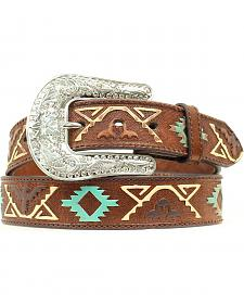 Nocona Thunderbolt Embossed Belt