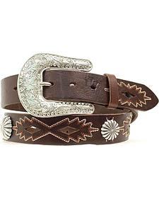 Nocona Southwest Stitched Leather Belt