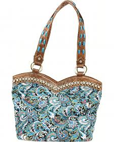 Blazin Roxx Quilted Paisley Boot Top Handbag