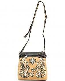 Blazin Roxx Floral Stitch Crossbody Bag