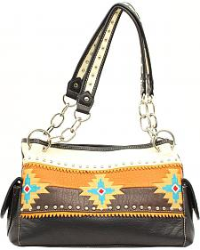 Blazin Roxx Southwest Embroidered Satchel Bag