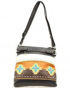 Blazin Roxx Southwest Embroidered Crossbody Bag