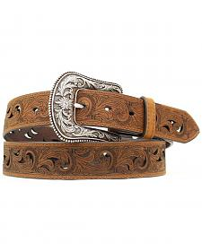 Ariat Paisley Design Cutout Leather Belt
