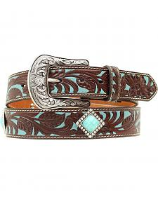 Ariat Turquoise Tooled Concho Belt