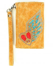 Blazin Roxx Heart & Wing Wallet & iPhone 4 Case