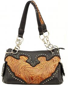 Blazin Roxx Tooled Satchel Bag