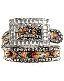 Nocona Southwest Beaded Inlay Rhinestone Belt