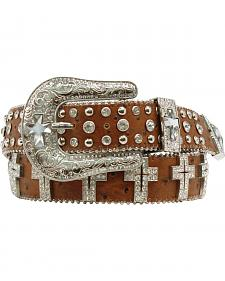 Blazin Roxx Clear Cross Concho Belt