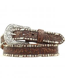 Ariat Embossed Overlay Nailheads Belt