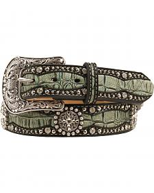 Ariat Gator Print Leather Belt