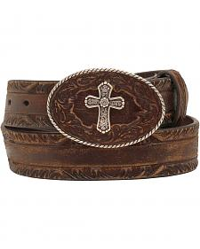 Nocona Women's Cross Buckle Leather Belt