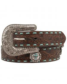 Nocona Embellished Turquoise Cross Concho Belt
