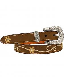 Nocona Women's Floral Embroidered Leather Belt