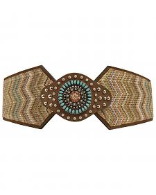 Nocona Wide Chevron Stretch Belt