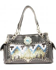 Blazin Roxx Sequin Chevron Satchel