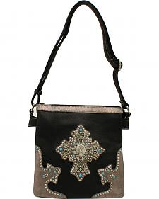 Blazin Roxx Cross Ornament Messenger Bag