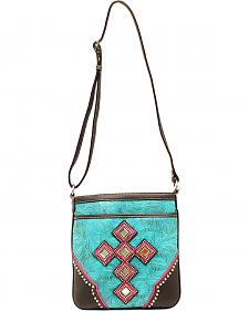 Blazin Roxx Mirror Concho Cross Messenger Bag