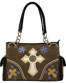 Blazin Roxx Multi Cross Concho Satchel