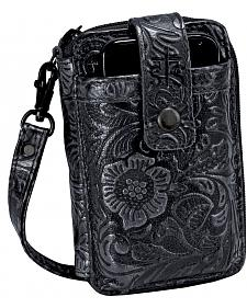 STS Ranchwear Floral Leather Wristlet